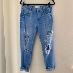 Ripped & cuffed jeans